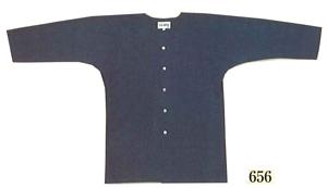紺無地鯉口シャツ