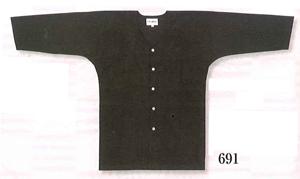 黒鯉口シャツ