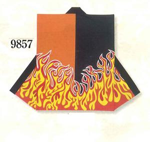 シルクプリント袖なし袢天